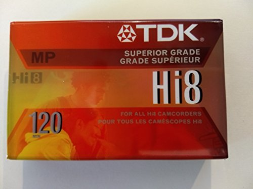 TDK HI8 120 MP Superior Grade Camcorder Tape