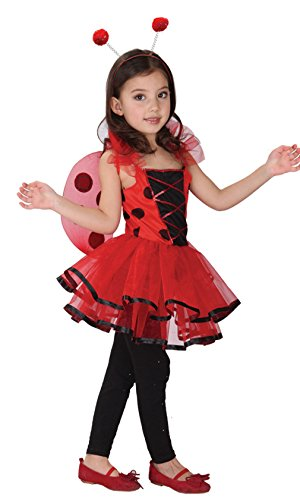 GIFT TOWER Déguisement Petite Fée Coccinelle Princesse Halloween Carnaval Costume Cosplay Enfant Fille (10-12 ans)