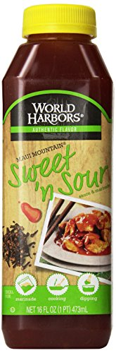 World Harbors Maui Sweet and Sour Sauce, 16-Ounce Bottles (Pack of 6)