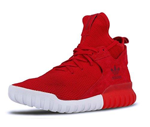 Adidas Tubular X Primeknit Sneakers / Chaussures de sport pour homme - rouge - rouge, 42 EU EU