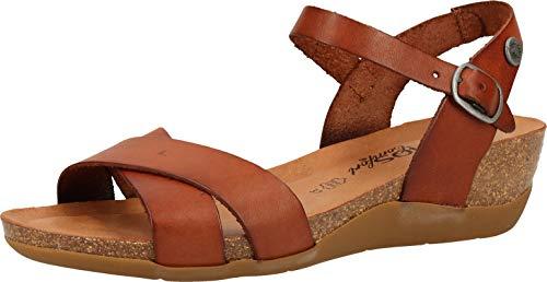 COSMOS Comfort Damen Keil-Sandaletten Braun, Schuhgröße:EUR 40