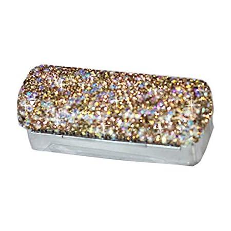 Amazon Com Bestbling Lipstick Bling Rhinestone Crystal Lipstick Case Storage Organizer Box With Mirror For Women S Lipstick Holder Cosmetic Storage Kit Gold Beauty