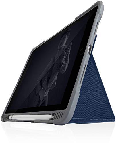 STM Bags Dux Plus Duo - Funda para Apple iPad de 10,2' (2019 y 2020), Color Azul y Transparente