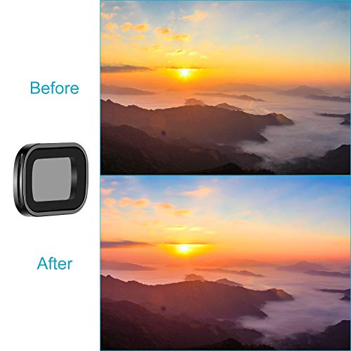 Neewer Magnetic ND Filter Set for DJI Osmo Pocket Gimbal Handheld Camera, Includes Multi-coated ND4 ND8 ND16 Filters with Carrying Box for Outdoor Photography (Black Aluminum Alloy Frame)