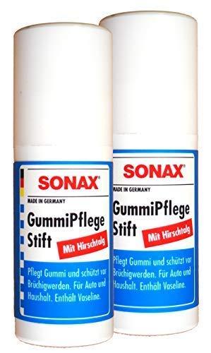 Preisjubel 2 x SONAX GummiPflegeStift 20g, Vaseline, Autopflege, Dichtungspflege, Türgummi