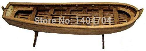 ZNYB embarcaciones Modelo de embarcación a Escala 1/50 Modelo de Barco de Vela Antiguo clásico Ruso Ingermanland 1715 180Mm Kit de Modelo de Madera de Bote Salvavidas General