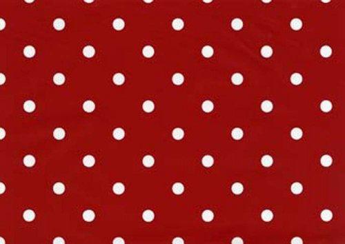 Fablon Fine Décor Rollo de plástico Adhesivo (45 x 200 cm), diseño de Lunares, Color Rojo