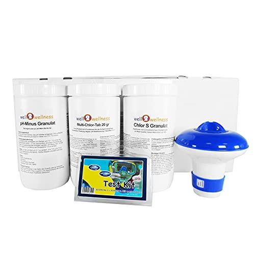 well2wellness® Pool Starter Set CLEWA Basic 5in1 - Starter Kit für Schwimmbäder