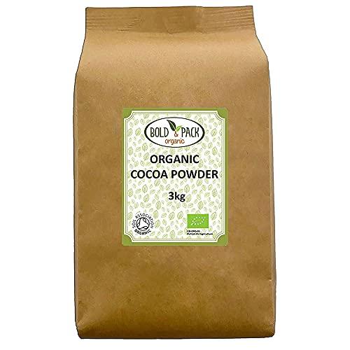 Bold & Pack - Polvo de cacao orgánico (3 kg)