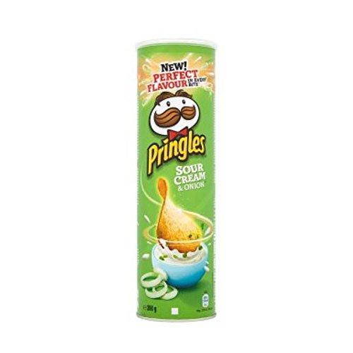 Pringles Sour Cream and Onion, Patata de bolsa - 200 gr.