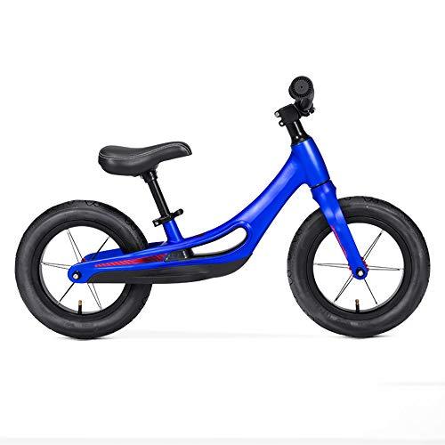 JIEXIAO Equilibrio de Coches para niños sin pie Moto Scooter de Dos Ruedas de la Bicicleta al Aire Libre Deportes de la Fuerza de Balance Ejercicio Deportes de la Ilustración,Azul