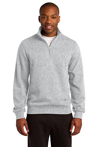 Sport-Tek Men's 1/4 Zip Sweatshirt M Athletic Heather