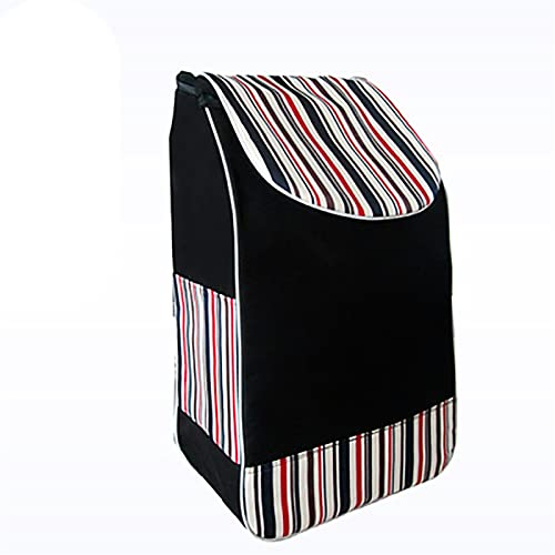 AHAI YU Lightweight Foldable Grocery Cart Shopping Trolley Shopping Trolley Replacement Bag Shopping Cart Bag Spare For Trolley Bag 34L (Size: 32 × 19× 56cm)
