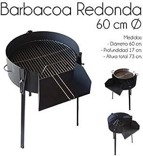 ESTUFAS GARCIA Barbacoa Redonda 60 CM Chapa con Soporte para