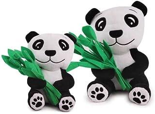 Zanies Plush and Felt Prosperity Panda Dog Toy, Small
