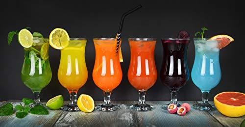 Sendez 6 Stück Cocktailgläser 480ml 9 Varianten Hurricane Longdrinkgläser Bargläser (Klar) - 6