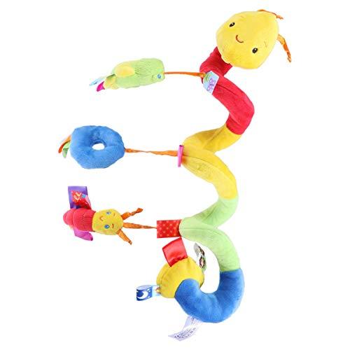 TOYANDONA 1 Uds. Cochecito de Bebé Actividad de Juguete Juguete en Espiral Cuna Cama Juguetes Colgantes Sonajeros Cochecito en Espiral Y Asiento de Coche Juguete con Timbre