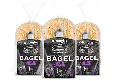 ODoughs Sprouted Whole Grain Flax Gluten Free Bagel Thins (Frozen 0.50 Unit) (Pack of 6)