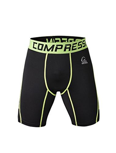 Fringoo - Short de sport - Homme Multicolore BLACK - GREEN shorts grand