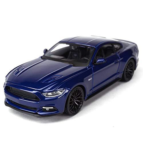 Modelo de coche 1:24 para F-Ord Mustang GT Sports Car Static Die Cast Vehículos Coleccionables Modelo Coche Juguetes (Color: Azul)