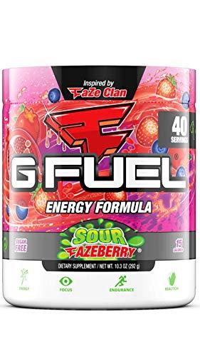 G Fuel Sour FaZeberry (40 Servings) Elite Energy and Endurance Formula 9.8 oz.