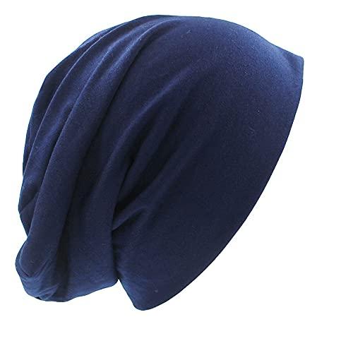 WQZYY&ASDCD Gorro Beanie Sombrero Skullies Hat Beanies Sombrero De Hombre Sombreros De Moda Unisex para Mujeres Sombrero Delgado De Dama Sólida Talla Única Azul Marino