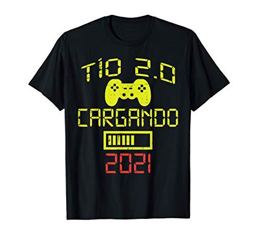 Hombre Futuro Tio 2.0 2021 Humor Anuncio Embarazo Gaming Regalo Camiseta