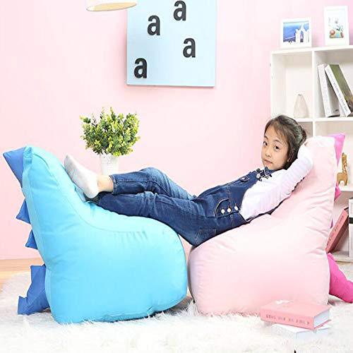 TKFY Dragonet Shape Design Bean Bag Packed Particle Bean Bag Chair Indoor and Outdoor Garden Child Rest and Play 66CM*43CM*43CM Pink