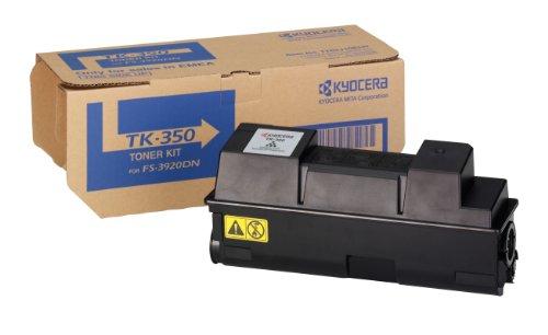 Kyocera TK-350 Original Toner-Kartusche Schwarz 1T02LX0NL0. Kompatibel für FS-3920DN, FS-3040MFP, FS-3140MFP, FS-3040MFP+,FS-3140MFP+, FS-3540MFP, FS-3640MFP