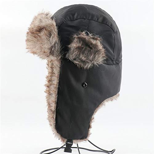 JLCSM Sombrero de Invierno, Oreja de Invierno Sombrero Piloto, Sombrero de algodón térmico para Mujer, Sombrero Térmico de Invierno