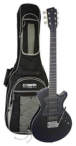Stagg Elektrische Gitarre - Silveray Serie - Nash Modell mit massivem Erlen-Korpus, schwarz