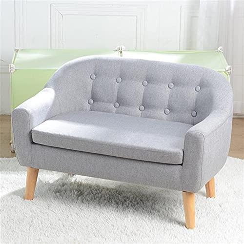 QASIMOF Kids Sofa Children's Single Sofa,2 Seater Kids Twin Sofa Children Double Seat Boys Girls Furniture, Kid Sofa Mini Armchair Couch for Bedroom/Garden/Living room (Grey)