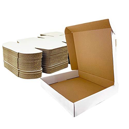 Giftgarden Scatole di Cartone Imballaggio Piatte 20 Pezzi 305x229x76 MM A4 Scatole per spedizione o Lo stoccaggio Bianca