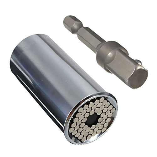 Enjoydeal ETC-120A Steckschlüssel Multi Funktions Handwerkzeuge Universal Reparatur Werkzeuge 7-19mm HSS-Adapter
