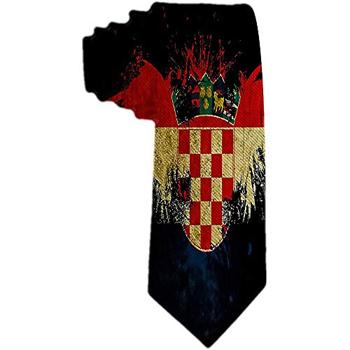 Herren Krawatte kroatische Zeichen Polyester Seide Krawatte