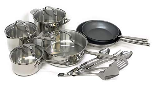 Emeril Lagasse 15 Piece Stainless Steel Cookware Set
