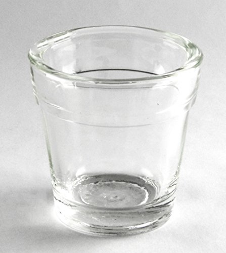 Clear Glass Flower Pot Candle Holder