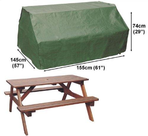 HBCOLLECTION Housse pour Table Pique-Nique de Jardin 155cm Gamme Standard
