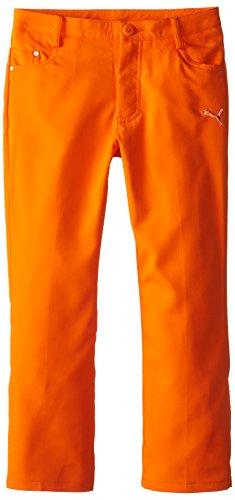 Puma Golf Boys Junior 5 Pocket Pant, Vibrant Orange, X-Large