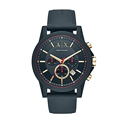 Armani Exchange Herren Analog Quarz Uhr mit Silikon Armband AX1335 zum Best Preis.