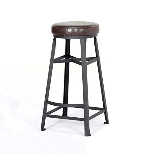 J-HOME Tabouret de bar Tabourets de bar ronds Bar Cuisine Tabouret de petit déjeuner Chaise de salle à manger Bois/PU Chaise de bar Tabouret haut Chaise de comptoir pour la famille et les affaires p