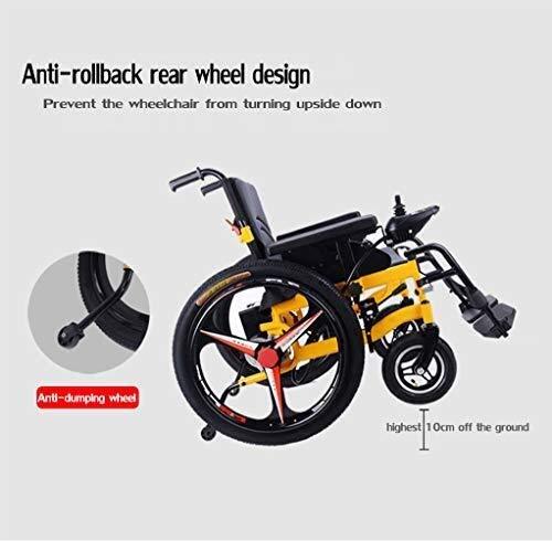 41XwGJsY64L - Sillas de ruedas HYL-silla de ruedas eléctrica Luz silla de ruedas plegable portátil de energía de parasitismo - 24 Inchs Silla de ruedas eléctrica for los ancianos, discapacitados y hemiplejía pacien