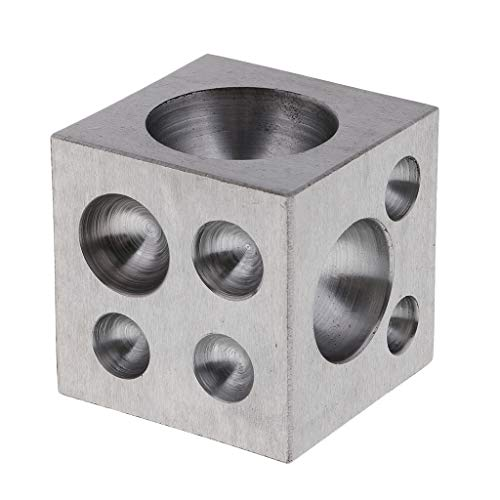 Dapping Block de Latón con 18 Cavidades Redondas Herramienta para Fabricación de Joyerías