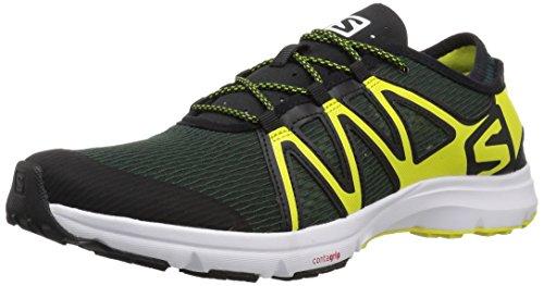 Salomon Men's Crossamphibian Swift Trail Running Shoe, darkest spruce, 11 M US