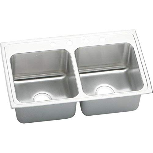 Elkay DLR3319104 Sink, 10.13 x 19.50 x 33.00 inches, Stainless Steel