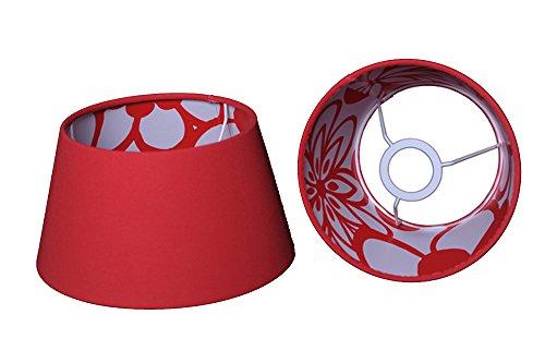 Lampenschirm für Tischleuchte in Rund Flashback Chintz Rot TL 20-15-13