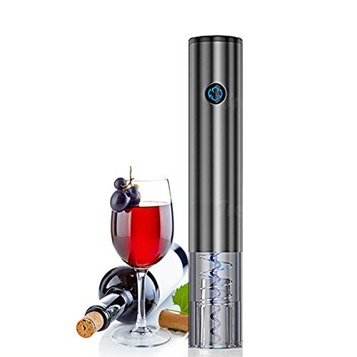Denghl Electric Wine Opener, USB Charging One-Button Touch Automatic Red Wine Bottle Opener Corkscrew with Foil Cutter Set for Wine Enthusiast, Waiters