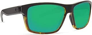Costa Del Mar Costa Del Mar SLT181OGMP Slack Tide Green Mirror 580P Matte Black/Tortoise Frame Slack Tide, Matte Black/Tortoise Frame, Green Mirror 580P, Large