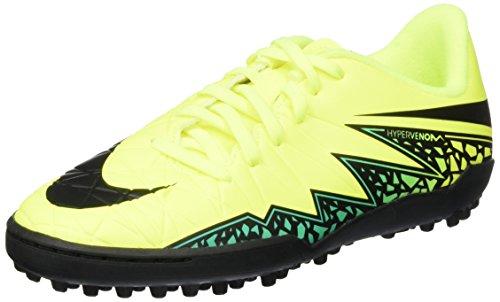 Nike Jungen Hypervenom Phelon II TF Junior Rasen Fußballschuhe, Gelb (Volt/Hyper-Türkis/Klares Jade/Schwarz), 37.5 EU