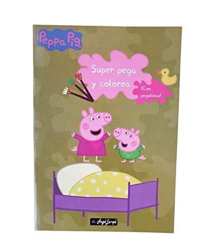 Peppa Pig Cuaderno Para Colorear 40 Dibujos Y Pegar 40 pegatinas Diviértete con Peppa y su Familia Pega y Colorea Con Pegatinas